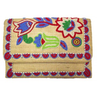 Large Flap Clutch Beaded