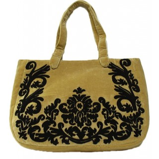Large Velvet Embroidered Tote