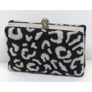 Leopard Print Box Clutch