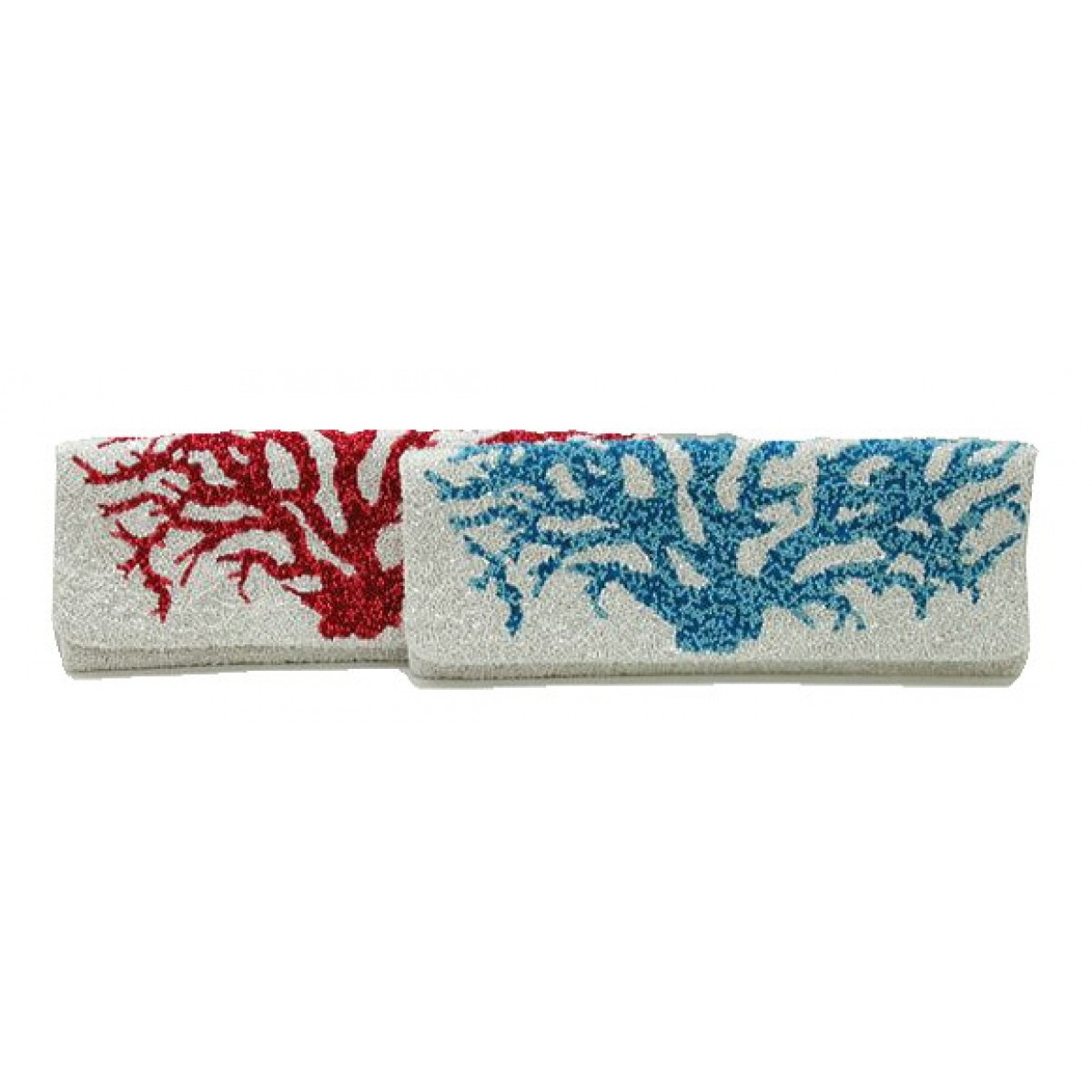 Long Fold Over Clutch Coral Reef