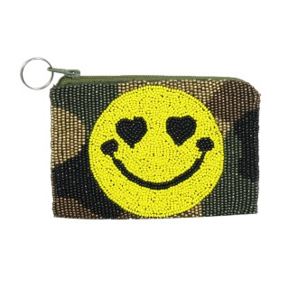 Coin Purse Camo & Heart Eye Emoji