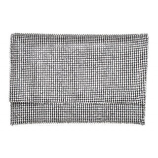 Medium Envelope Crystal Mesh Clutch