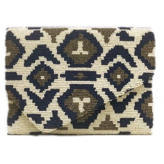 Medium v Flap Clutch Print
