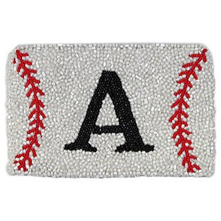Monogram Baseball Coin Purse