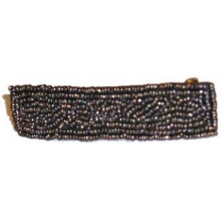 Narrow Beaded Barrette