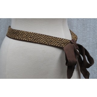 Narrow Cup Sequin Belt