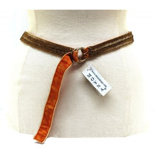 Narrow Herringbone Belt