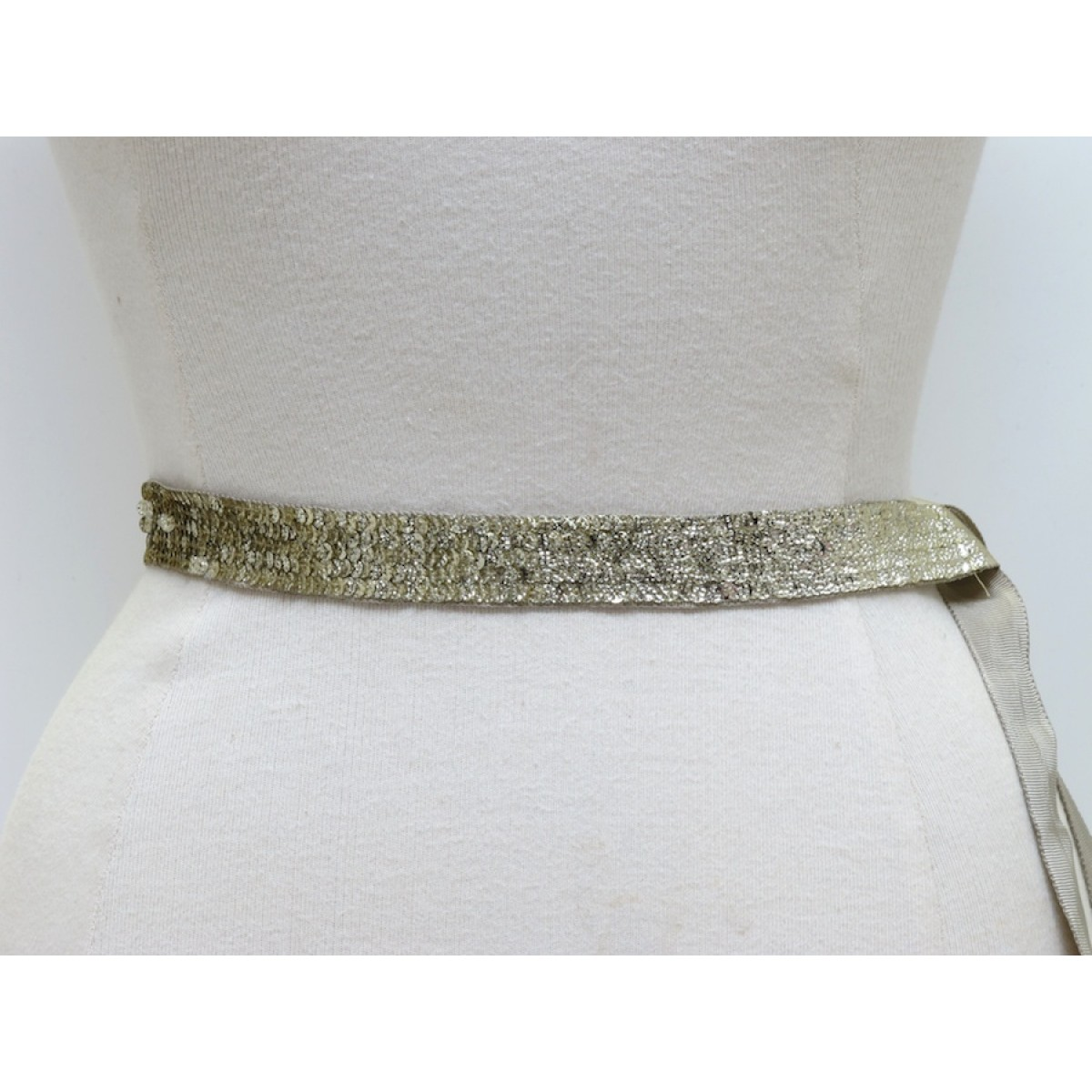 Narrow Sequin Belt