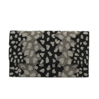Oversize Beaded Clutch Cheetah Print