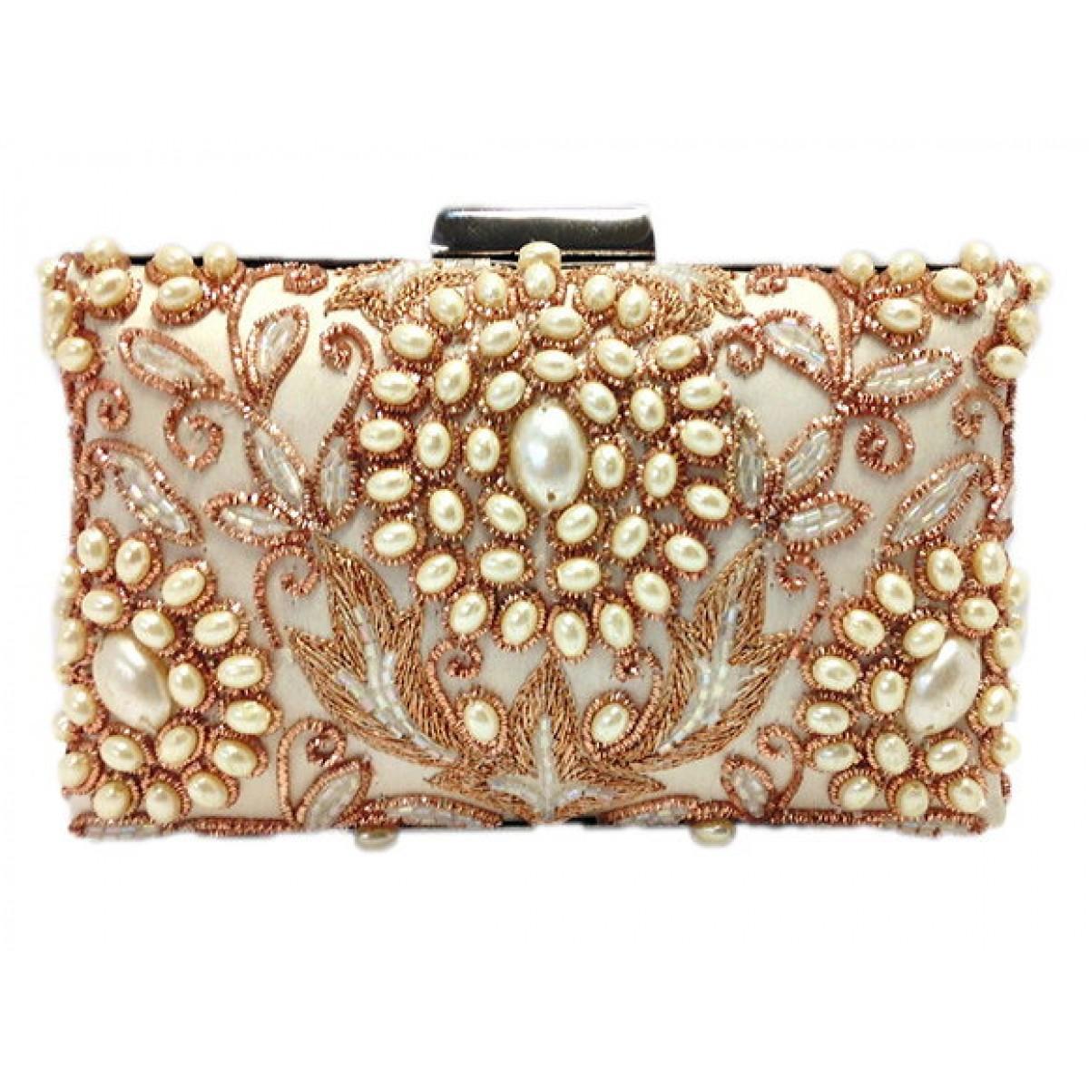 Pearl Flowers Box Bag