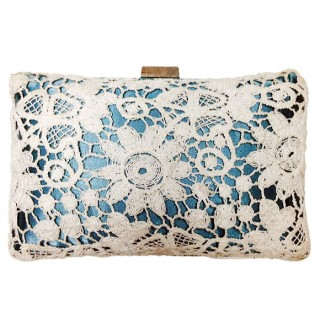 Polyester and Lace Clutch