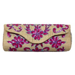 Purse with Floral Sequin