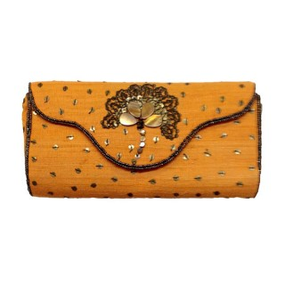 Purse with Flower Motif