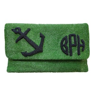 Raised Anchor, Monogram+Date Clutch