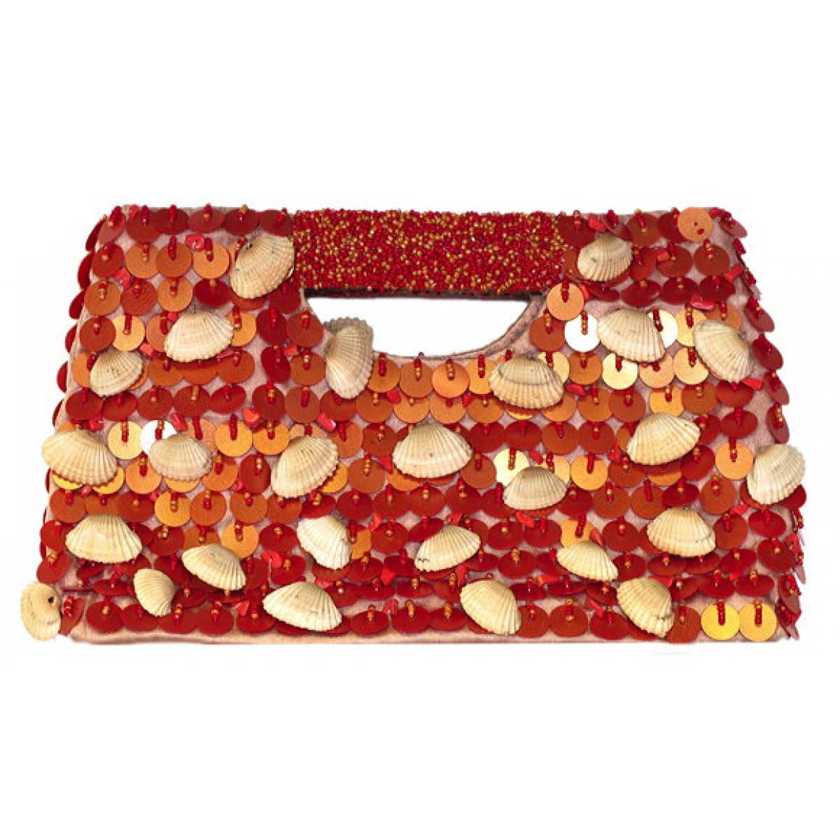 Rectangular Tote with Sequin & Shells
