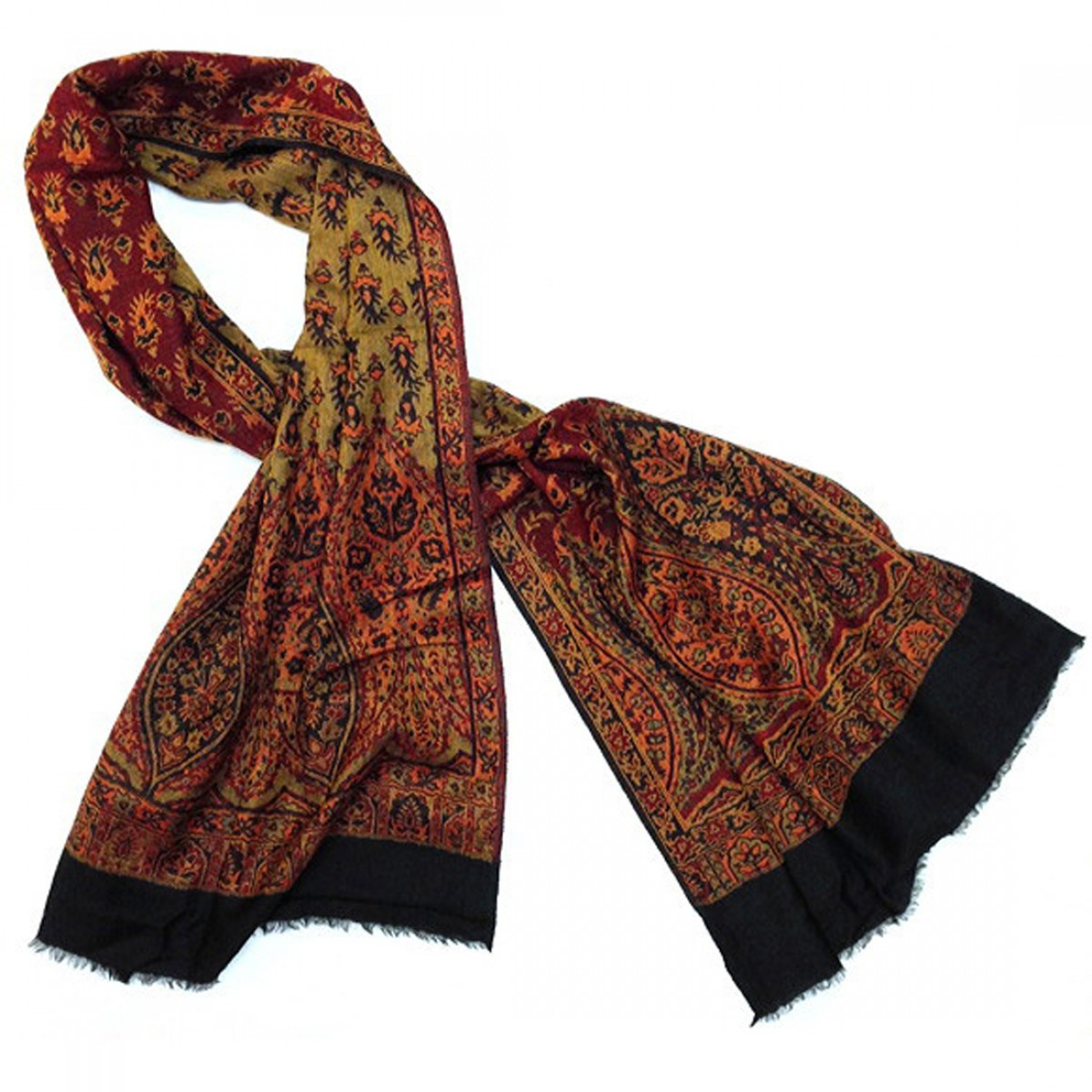 Reversible Woven Wool / Cotton Blend Shawl