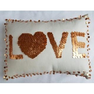 Sequin Love Pillow