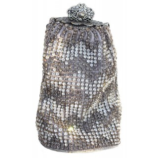 Silk and Swarovski Crystal Bag
