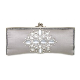 Silk clutch with Stones