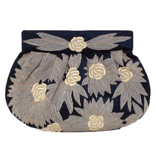 Silk Embroidered Clutch