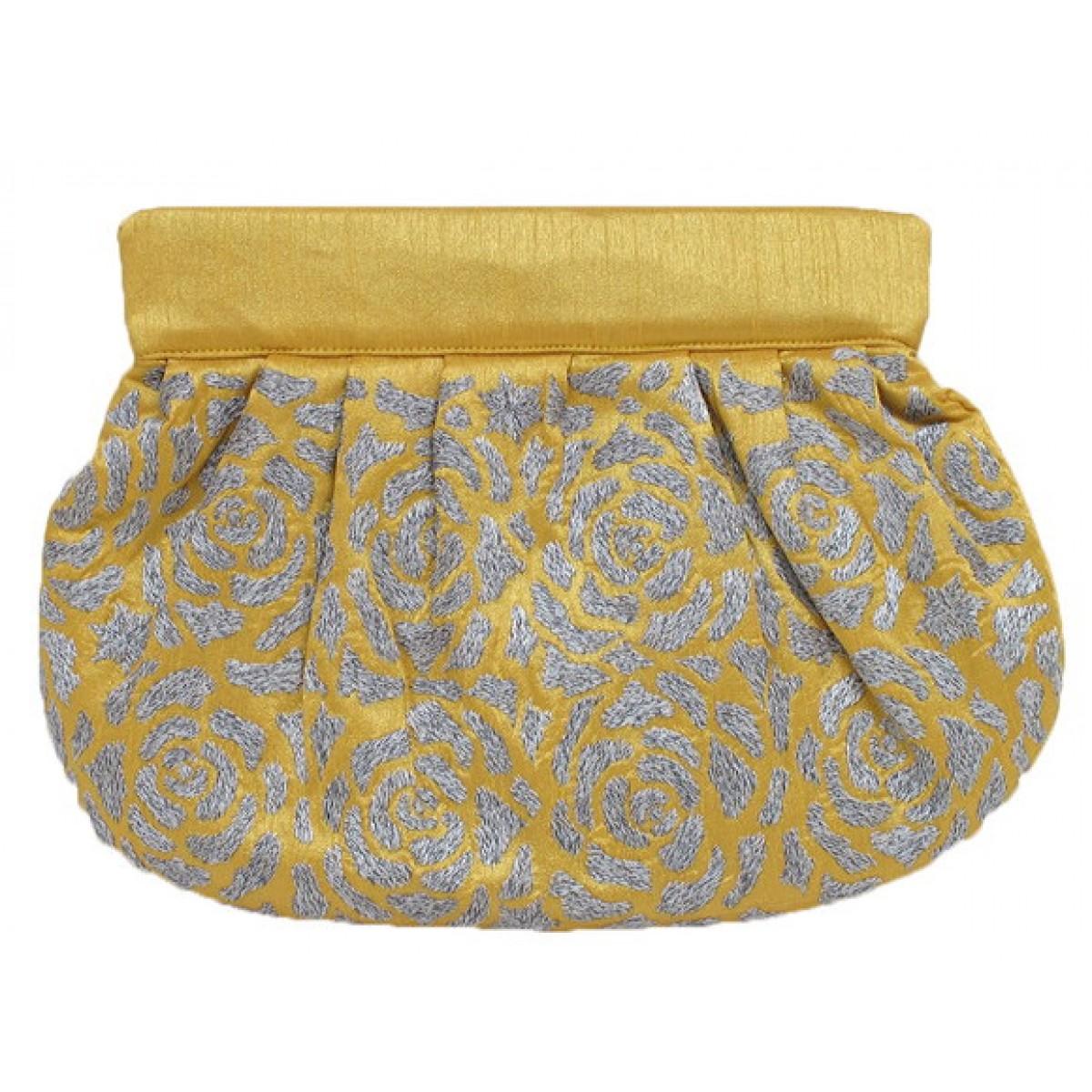 Silk Embroidered Clutch
