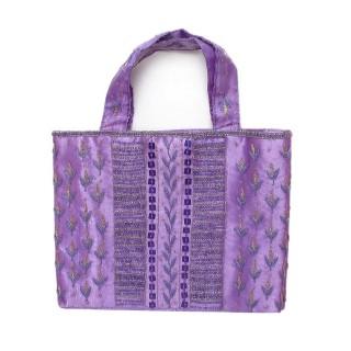 Silk Embroidered Tote