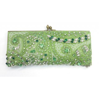 Silk Purse With Glass Beads