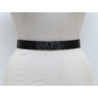 Skinny Beaded Waist Belt