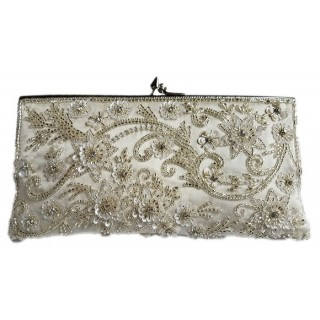 Slim Clutch Flower Swirls