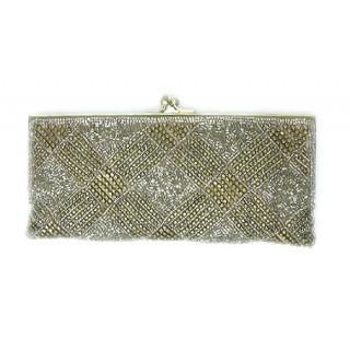 Slim Frame Clutch Basket Weave