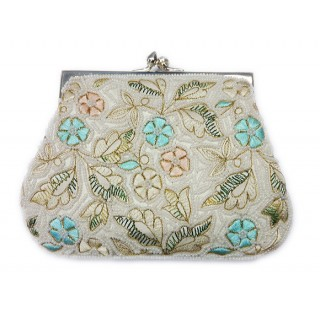 Small Farme Clutch Embroidered Flowers