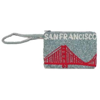 Small Wrist Pouch San Francisco Logo