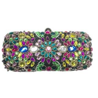 Stone Embellished Evening Box Bag