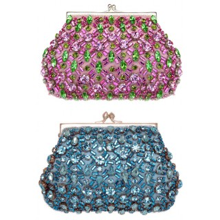 Swarovski Crystal Beaded Silk Clutch