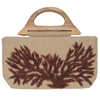Tote Jute with Coral Reef Motif