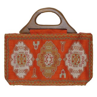 Tote with Embroidered Work