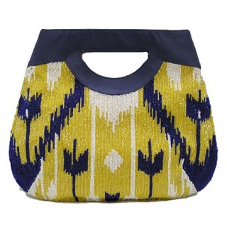 Tote with Ikat Pattern