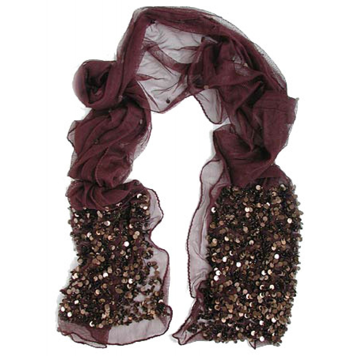 Tulle Scarf with Paillettes