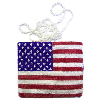US Flag Cross Body Pouch
