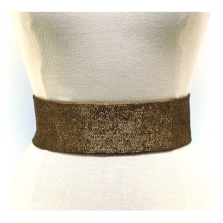 Wide Bead Embellished Waist Belt
