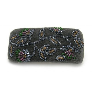 Wide Beaded Barrette