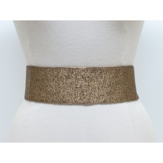 Wide Bugle Bead Belt
