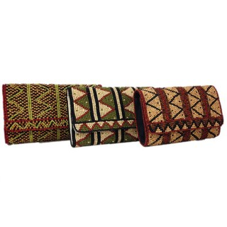 Wood Bead Large Clutch