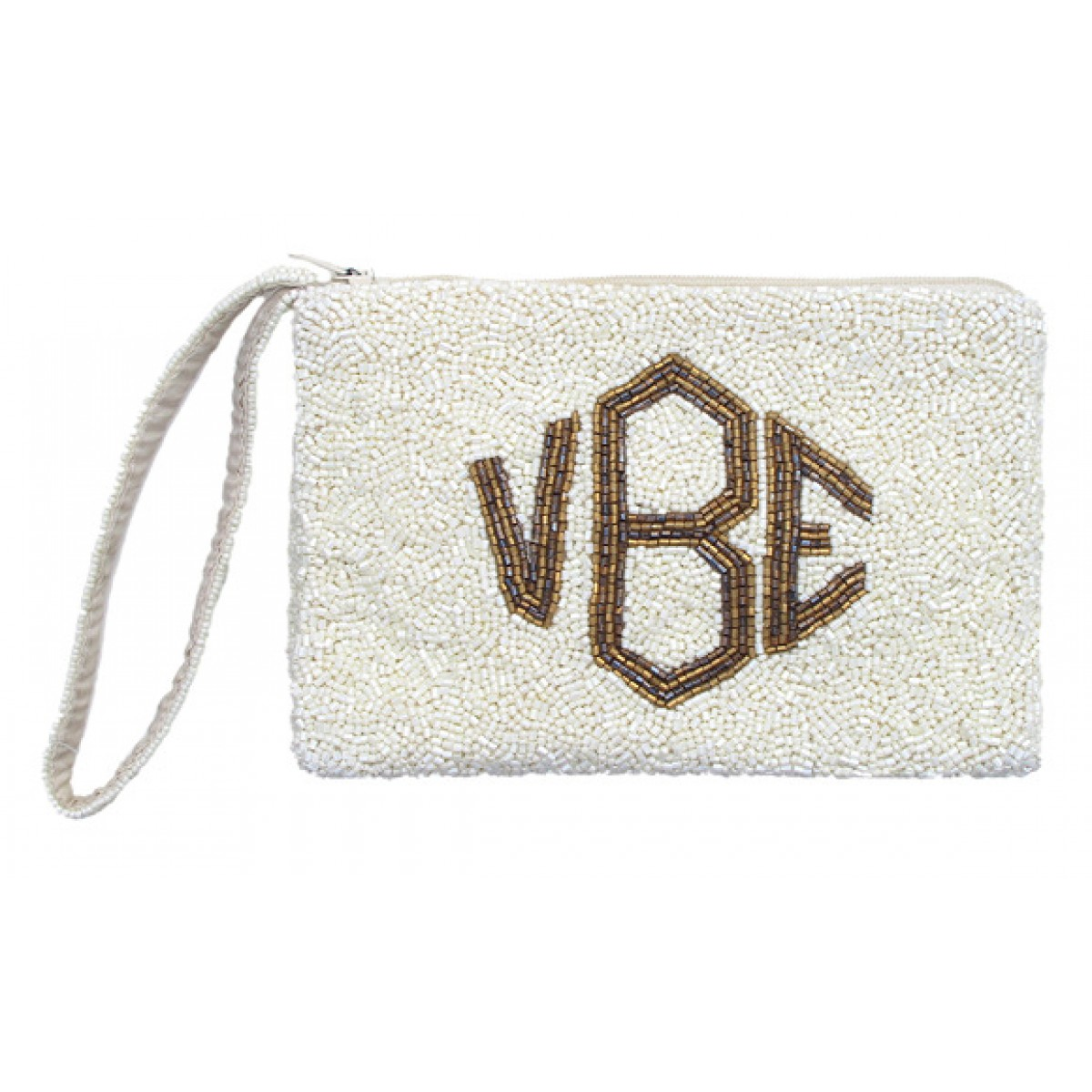 Wrist Cosmetic Pouch with Gusset with Diamond Monogram