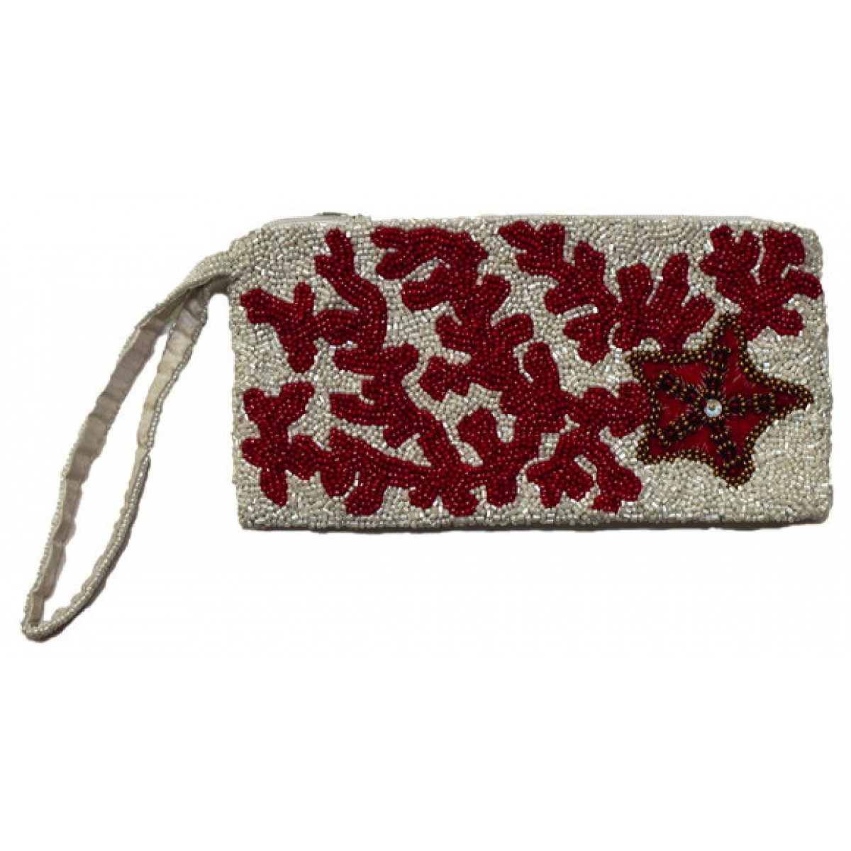Wristlet with Coral Reef & Starfish