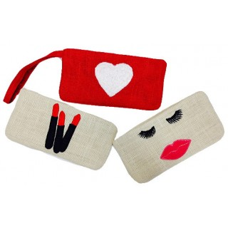 Wristlet With Heart, Lips or Lipsticks