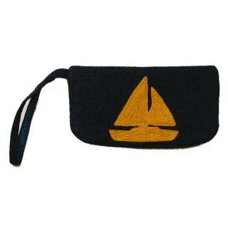 Wristlet with Sail Boat