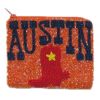 Zipper Pouch Austin Logo