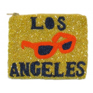 Zipper Pouch Los Angeles Logo