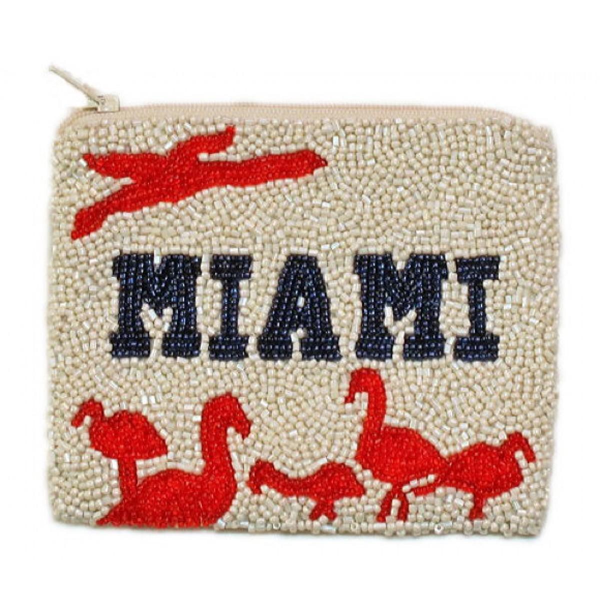 Zipper Pouch Miami Logo